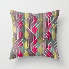 Decorative Pattern Triangles Throw Pillow
