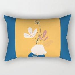 minimal floral art Rectangular Pillow