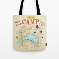 camp Tote Bags featuring camp by AJE Custom Shop