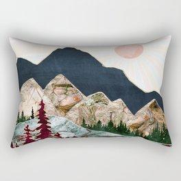Retro Autumn Vista Rectangular Pillow