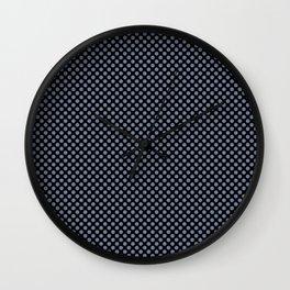 Black and Country Blue Polka Dots Wall Clock