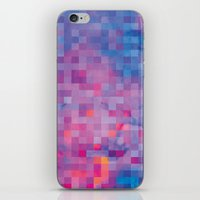 pixel iPhone & iPod Skins featuring Pixel by Marta Olga Klara