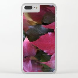 fall is coming -15- Clear iPhone Case
