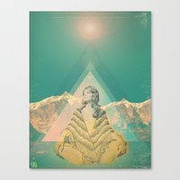 om Canvas Prints featuring Om by REPEAT MANTRA