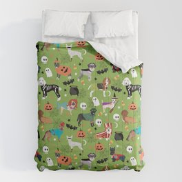 Dogs halloween costumes cute pumpkin ghost skeleton witch trick or treat Comforters