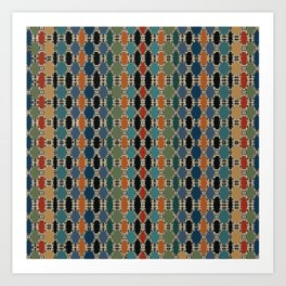 Moroccan Braided Abstract Art Print