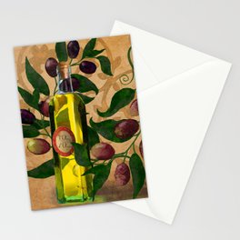 Olives and Italian Olive Oil Stationery Cards