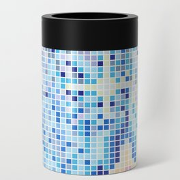 Pixelated Nebula Blue Can Cooler