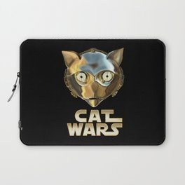 Cat Wars C3PO Laptop Sleeve