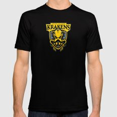 Iron Island Krakens MEDIUM Mens Fitted Tee Black