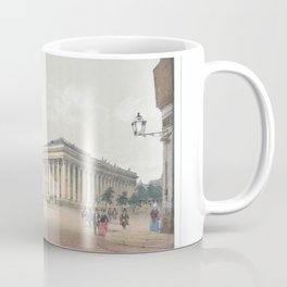 Paris art print Paris Decor office decoration vintage decor BOURSE et TRIBUNAL of Paris Coffee Mug