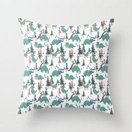 Dinosaur Hygge Throw Pillow
