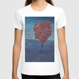 Lavender fields, Love Tree, oil painting by Luna Smith, LuArt Gallery T-shirt