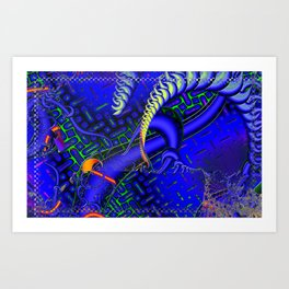 Tricky Bugger 3D Psychedelic Art Print