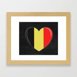 Heart Goes to Belgium Framed Art Print