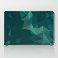 polygon iPad Cases featuring Green Polygon by artsimo