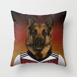 Worldcup 2014 : Germany - German Shepherd Throw Pillow