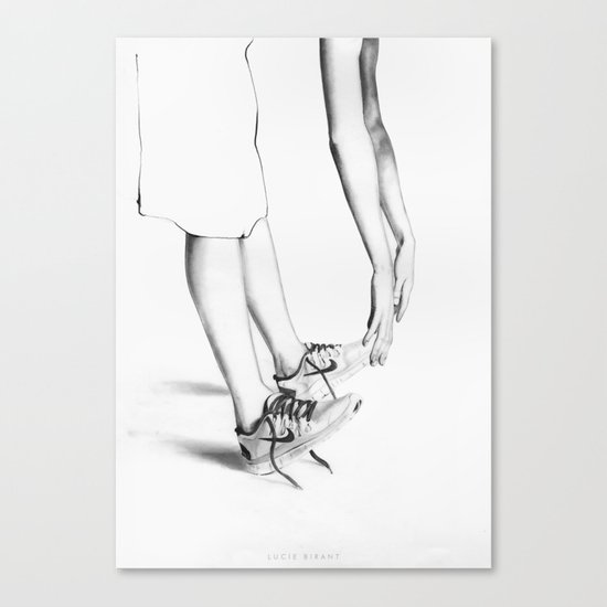 LAZY Canvas Print