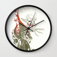 dracula Wall Clocks featuring Dracula by JoJo Seames