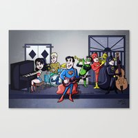 justice league Canvas Prints featuring Jazzy Justice League by joshisterrific