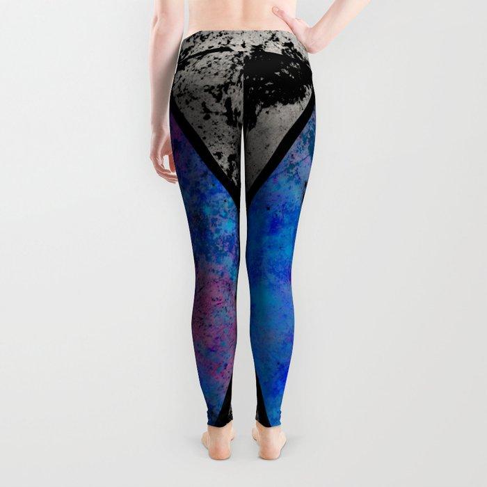 TEXtured HEX - Abstract, geometric, textured artwork Leggings