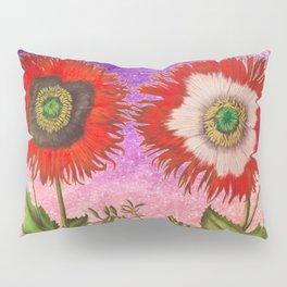 Vintage Botanical Collage - Poppies, Papaver Somniferum Pillow Sham
