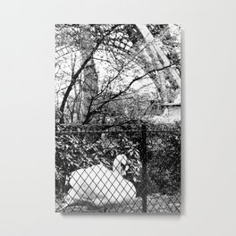 Swan in front of the Eiffel Tower Metal Print