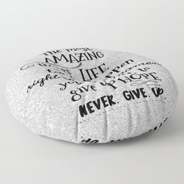 Keep the Faith Quote Typography Floor Pillow