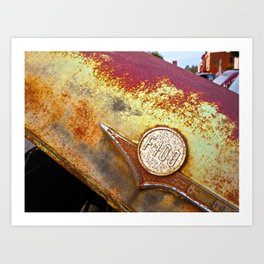 Rusty, Crusty Ford F-100 Art Print