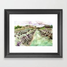 Purple up over the hills Framed Art Print