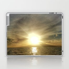 Sunset on Maui by boat Laptop & iPad Skin