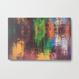 Colorful Scratches on Canvass Metal Print