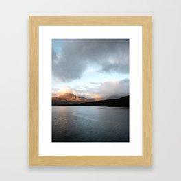 Gold - Scotland | landscape - nature - sky - mountains - outdoor - photography - photo - print Framed Art Print