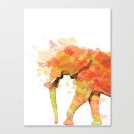 Positive elephant Canvas Print