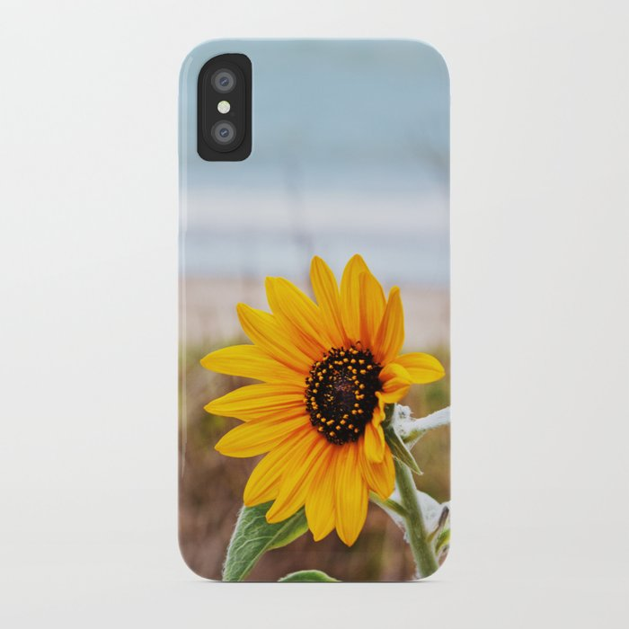 Sunflower near ocean iPhone Case