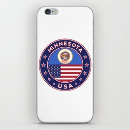 Minnesota, USA States, Minnesota t-shirt, Minnesota sticker, circle iPhone Skin