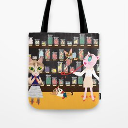 FASHIONISTA CAT CANDY STORE Tote Bag