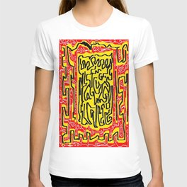 Laberinto red yellow T-shirt