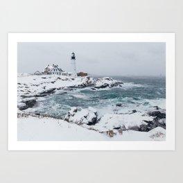 Cape Elizabeth Lighthouse, Maine Art Print