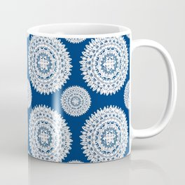 Silver and Navy Mandalas Coffee Mug
