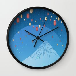 Catching Fireflies Wall Clock