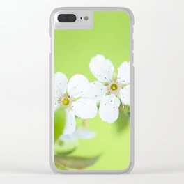 Cherry blossom tree in the green Clear iPhone Case