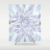 celestial Shower Curtains featuring Celestial Layers by Charma Rose