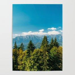 Carpathian Mountains Landscape, Summer Landscape, Transylvania Mountains, Forests Of Romania, Print Poster