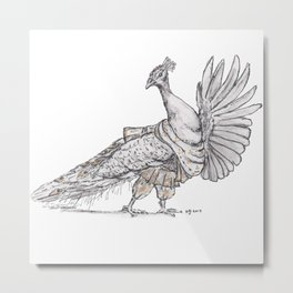 Tiny Dancer - Bollywood Peacock Metal Print