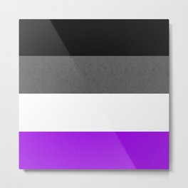 Asexual pride flag Metal Print