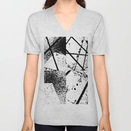 black abstract paint Unisex V-Neck