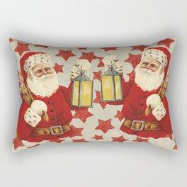 Vintage Santa christmas illustration Rectangular Pillow