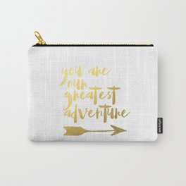 You Are Our Greatest Adventure Nursery Wall Art Poster Instant Download, Coral & Gold Arrows Tribal Carry-All Pouch