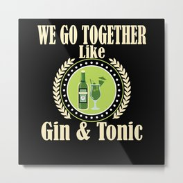 Gin Alcohol Party Alcohol Metal Print